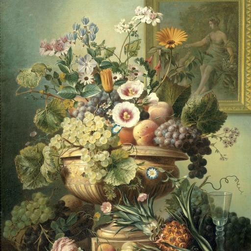 绘画 花瓶 精致 水果