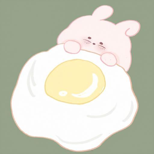 鸡蛋 兔子 可爱 盖被