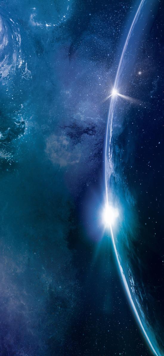 宇宙 太空 星空 地球 蓝色