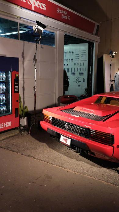 法拉利 超級跑車 炫酷 豪車 夜晚