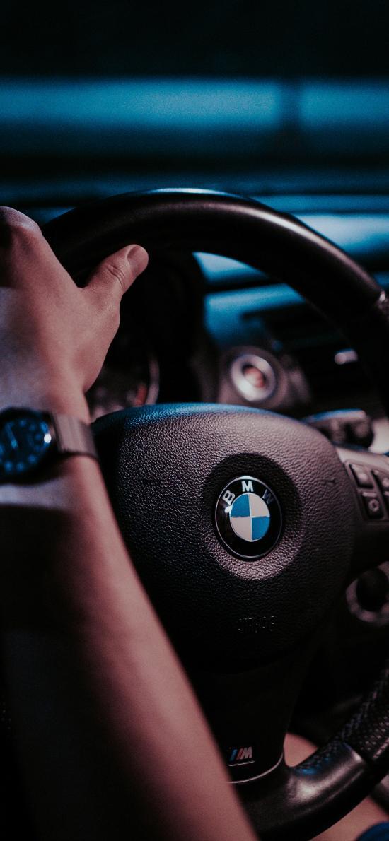 宝马 汽车 驾驶 方向盘 logo BMW