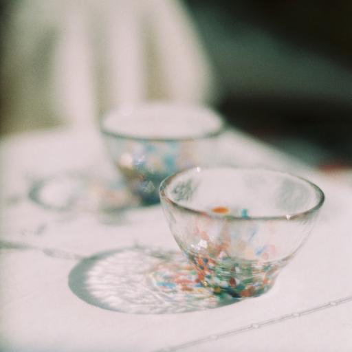 琉璃 杯子 光影 琉璃杯