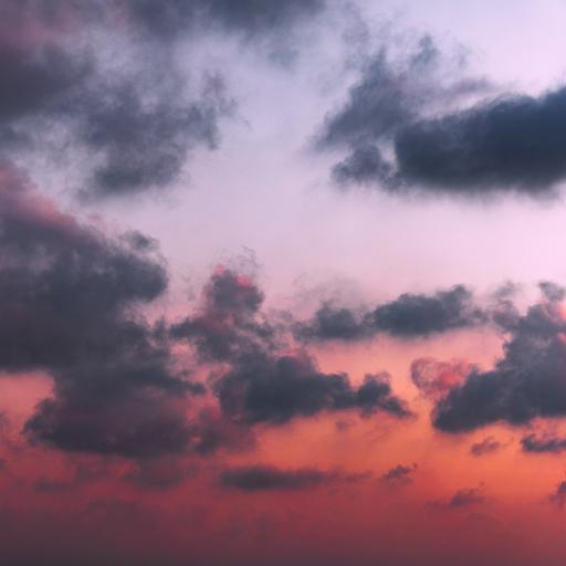 云彩 彩霞 云朵 夕陽
