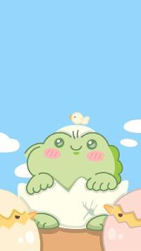 卡通 可愛 青蛙 雞蛋 破殼