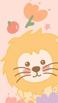卡通 可愛 小獅子 色彩
