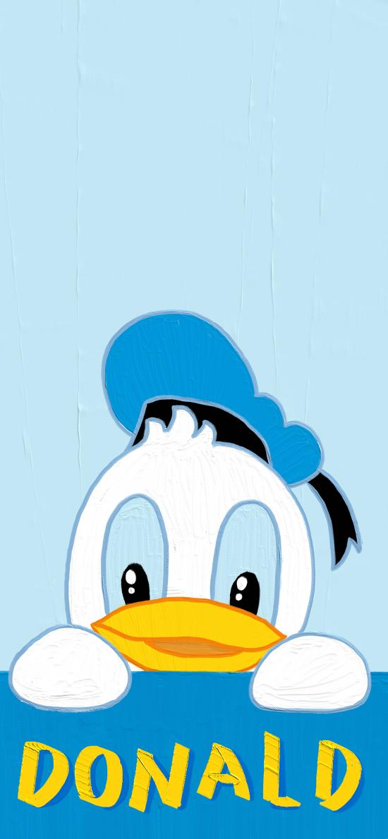 唐老鴨 卡通 Donald 藍