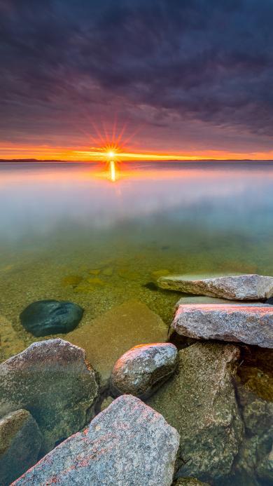 日出 霞光 大海 海景
