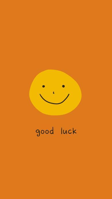 好運 good luck 表情 笑臉 黃色