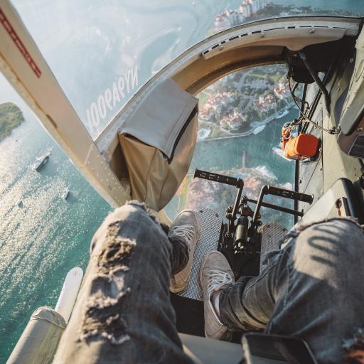 駕駛艙 直升飛機 飛行 航空 玻璃