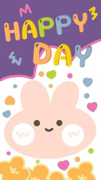 happy day 卡通 兔兔