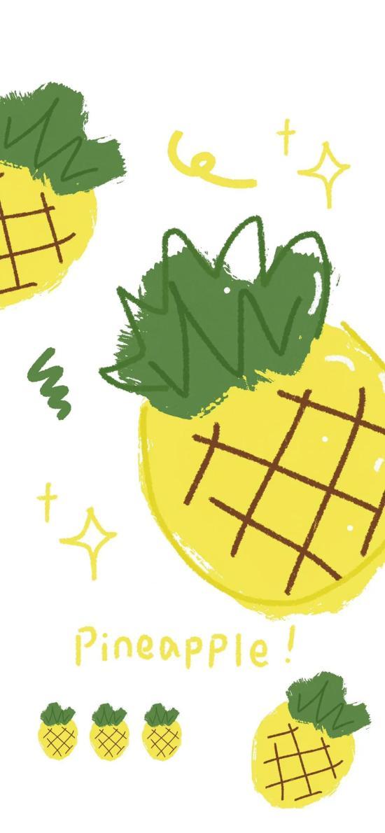 插畫 菠蘿 色彩 pineapple