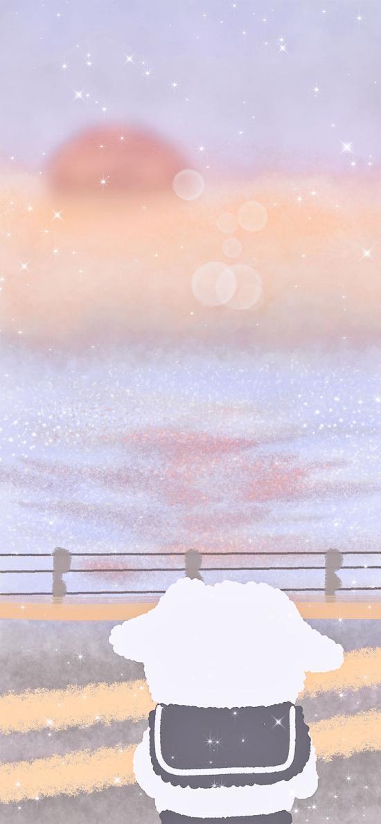 小熊 插图 背影 风景 (取自微博:周游水星)