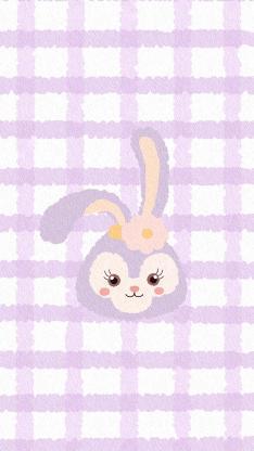 格子 背景 紫色 星黛露 迪士尼(取自微博:一只牧牧)