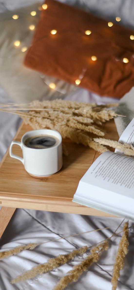静物 咖啡 书籍 木桌
