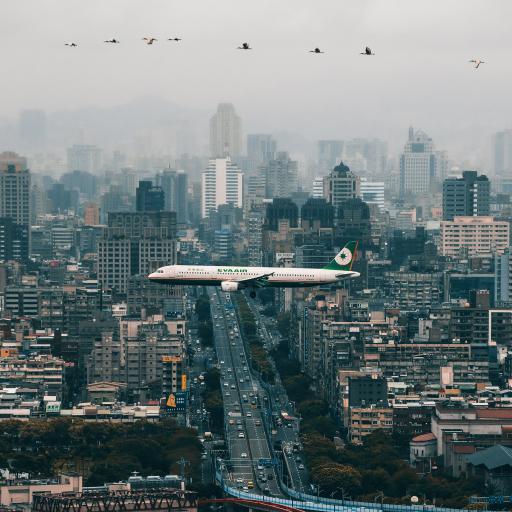 飞机 飞行 航空 科技 城市 高空