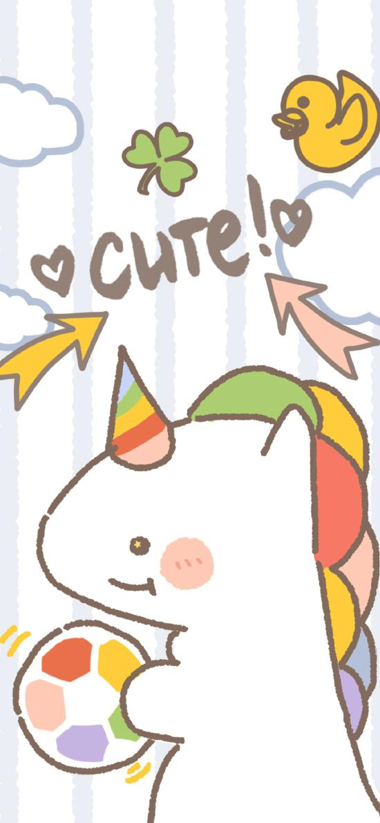 卡通 cute 独角兽 色彩 可爱