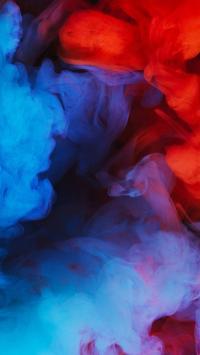 烟雾 红蓝 渲染 苹果