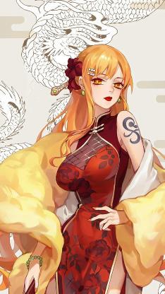 日漫 海贼王 成员 娜美(取自微博:毒药无形)
