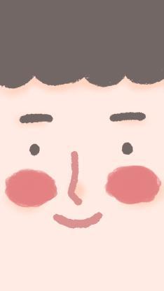 刘海 表情 五官 腮红 笑脸