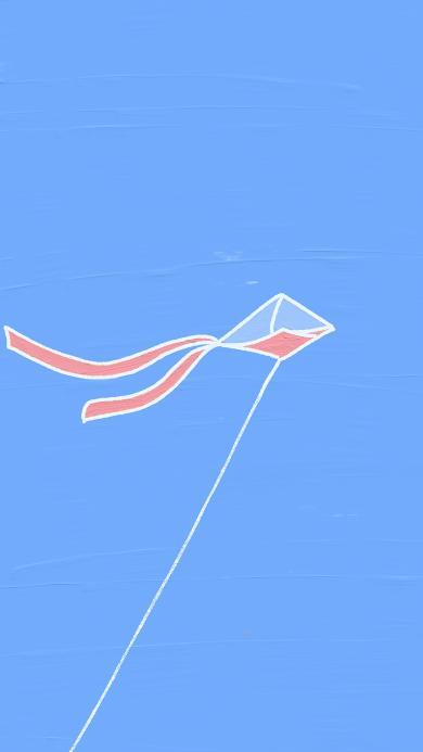 风筝 蔚蓝 天空 放风筝