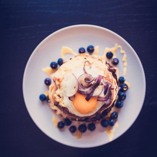松餅 藍莓 雞蛋 洋蔥