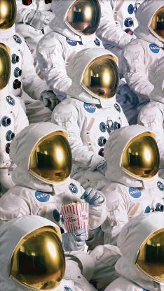 宇航员 太空服 爆米花 NASA 平铺