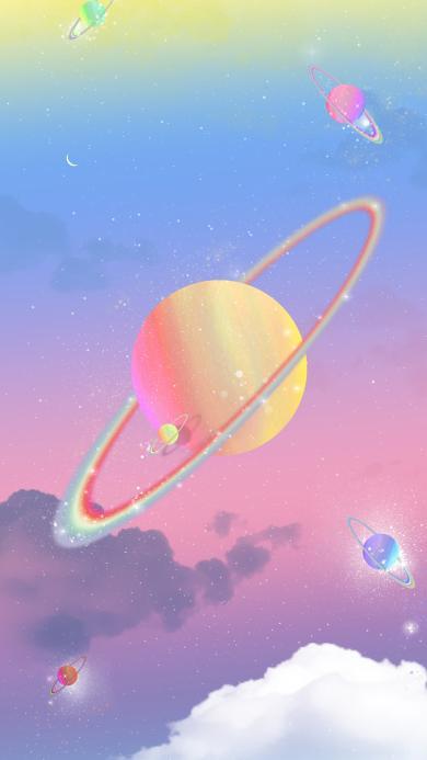 宇宙 星空 梦幻 星球 光圈 渐变