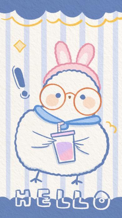 兔子 可爱 卡通 hello