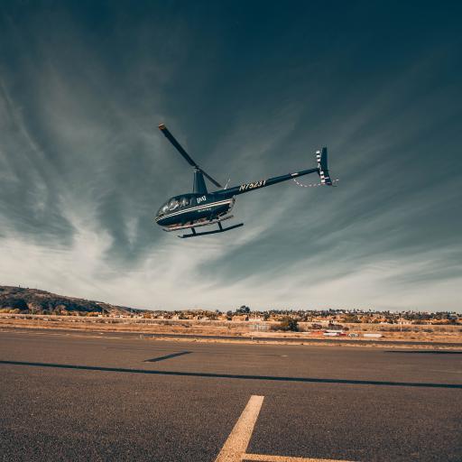 直升机 飞机 飞行 航空 跑道