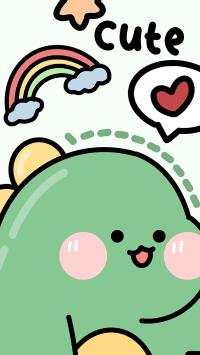 可爱 cute 小恐龙 可爱