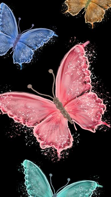 蝴蝶 色彩 昆虫 绘画