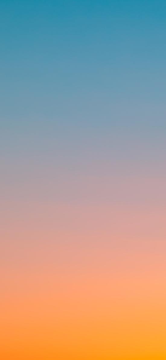 天空 漸變 色彩 夕陽