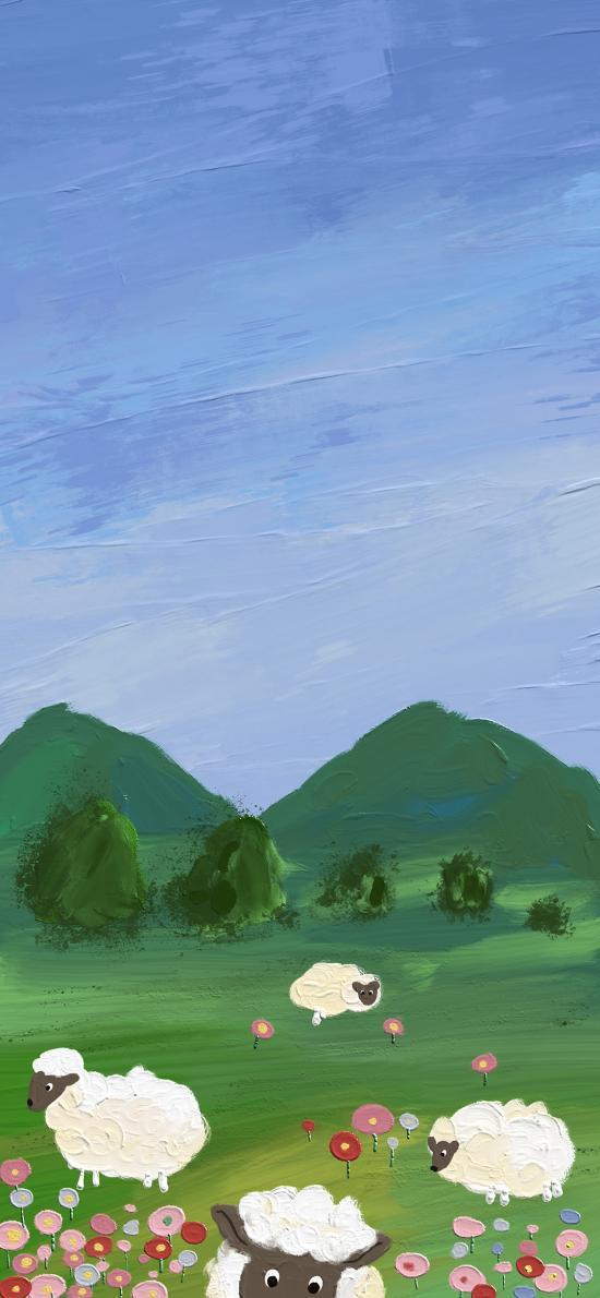 风景 插画 绵阳 山峰 色彩 艺术