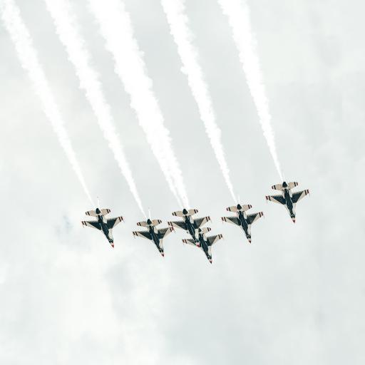 飞机 战斗机 飞行 演习 航空 烟雾 排列