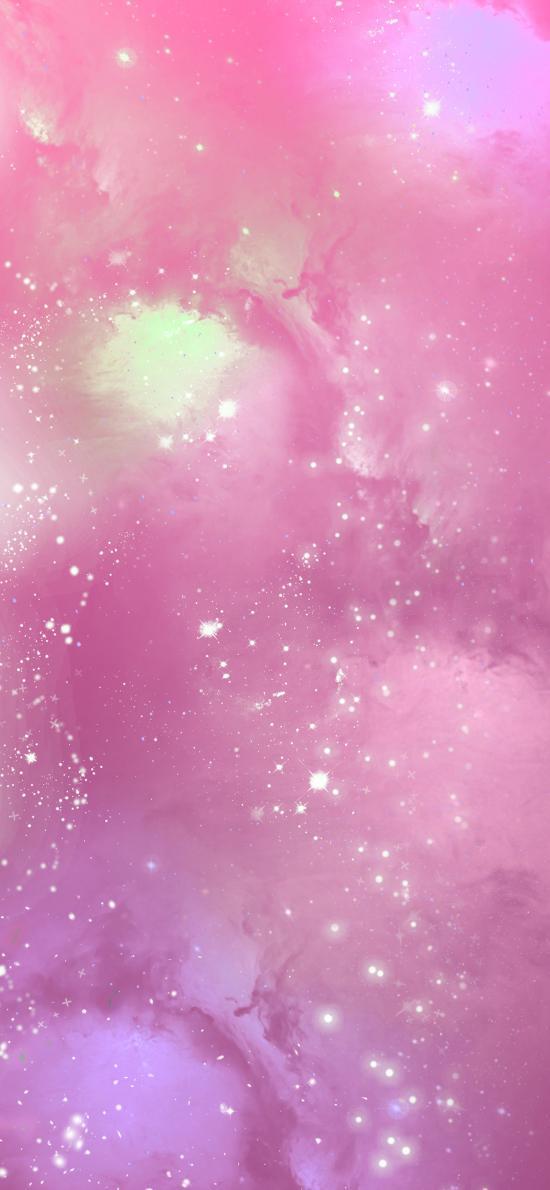 宇宙 太空 星光 星空 粉色 夢幻
