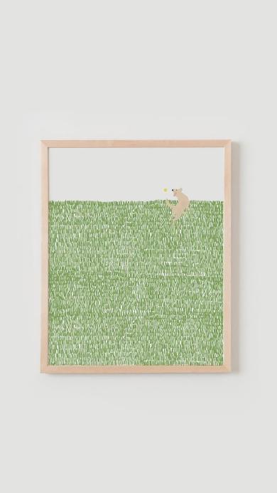 悬挂 装饰 壁画 绿色