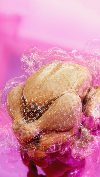 烤鸡 食物 肌肉 LV 潮牌 奢侈品牌