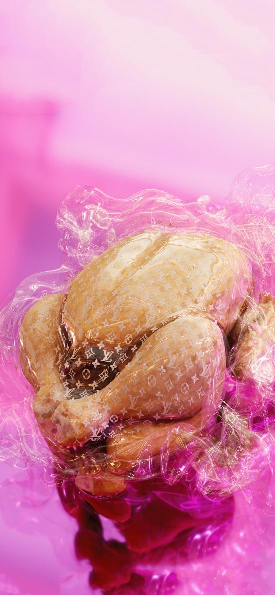 烤雞 食物 肌肉 LV 潮牌 奢侈品牌