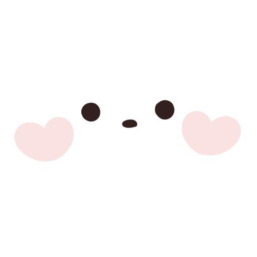脸蛋 白色 爱心 腮红 可爱