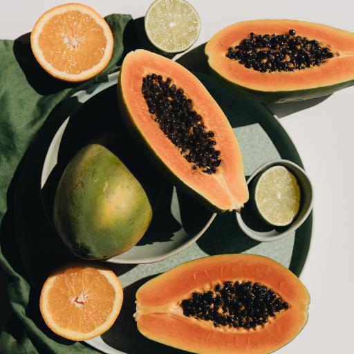 木瓜 青柠 水果 柑橘