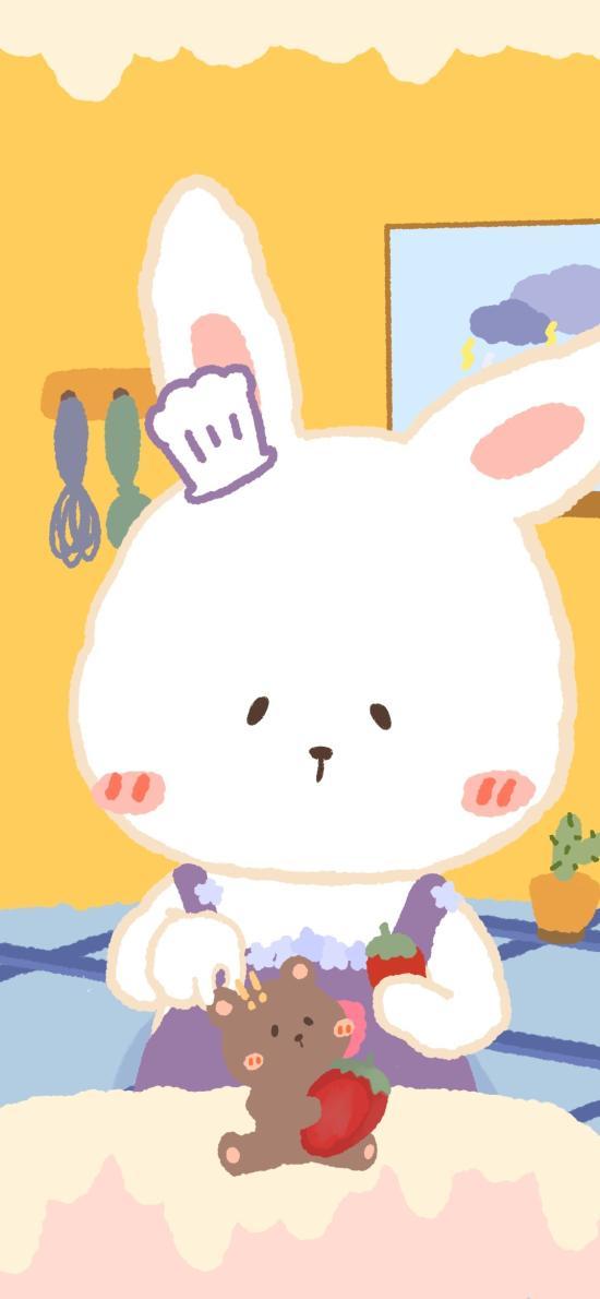 兔子 小熊 草莓 可爱 卡通