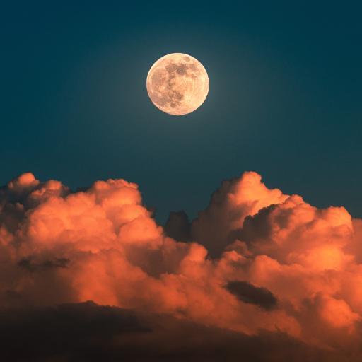 月球 星球 云海 云彩