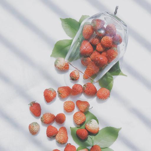 草莓 水果 果实 玻璃杯 叶子