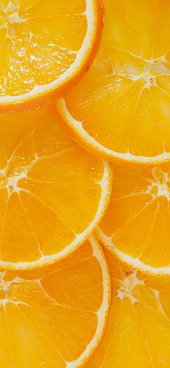 橙子 黃色 果肉 切片 水果