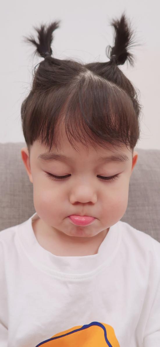 李浠晗 小男孩 可愛 兒童 小辮子