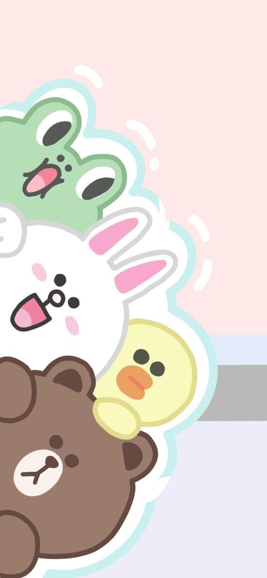 linefriends 布朗熊 可妮兔 薩莉雞 青蛙