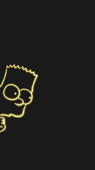 黑色背景 美国 辛普森