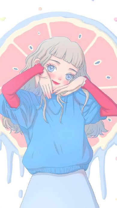 可爱 女孩 插画 大眼