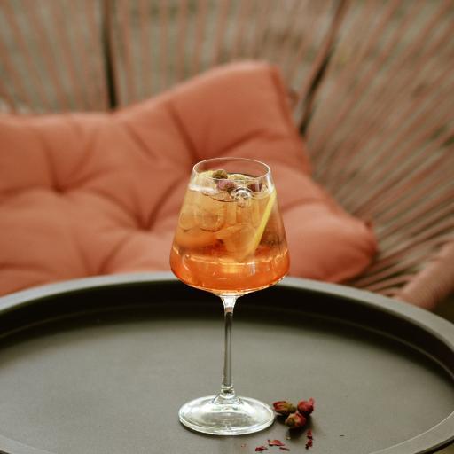 酒水 酒杯 玫瑰花 高脚杯