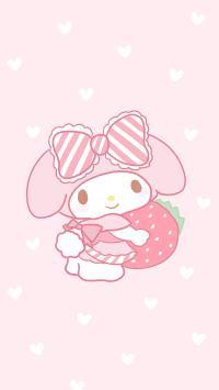 美樂蒂 粉色 草莓 愛心 可愛